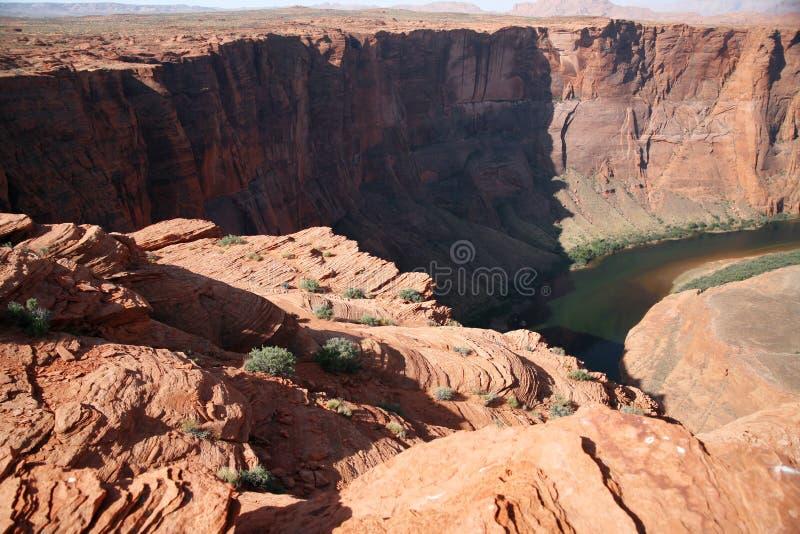 Formation de roche à la courbure en fer à cheval en Utah, Etats-Unis photographie stock libre de droits