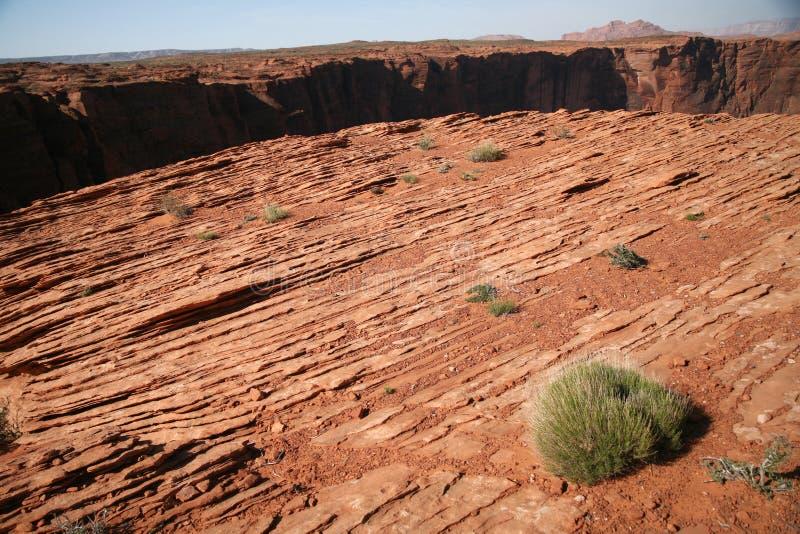 Formation de roche à la courbure en fer à cheval en Utah, Etats-Unis images stock