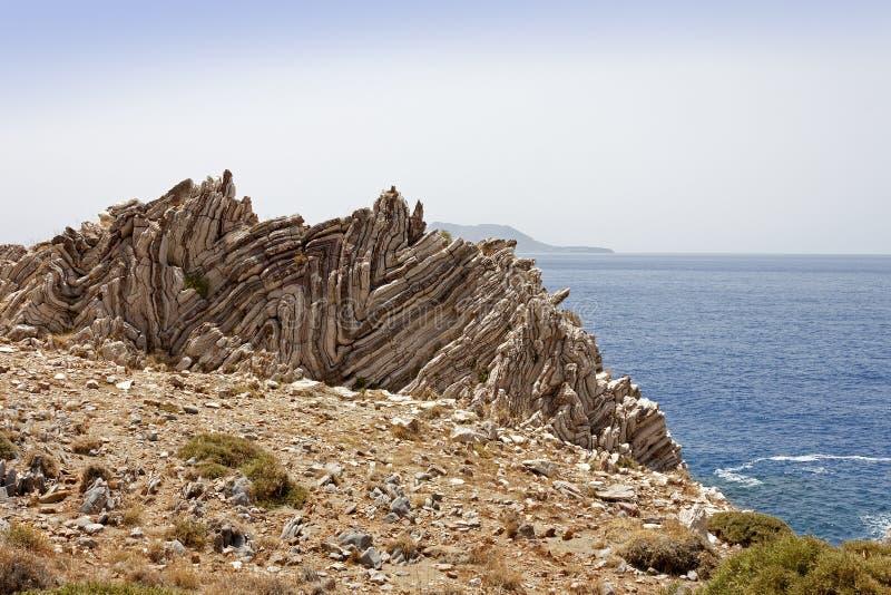 Formation de roche d'Agios Pavlos photographie stock