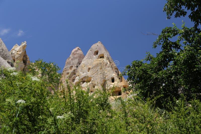 Formation de roche dans Cappadocia images libres de droits