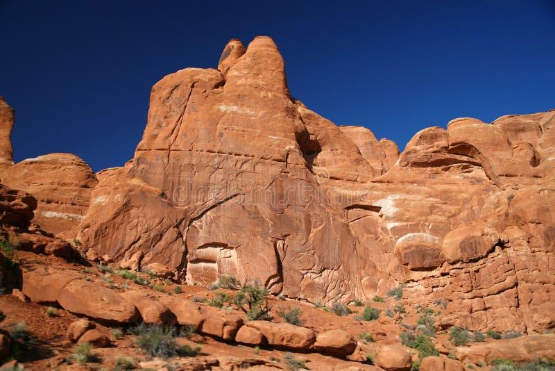 Formation de roche dans les voûtes parc national, Etats-Unis photo libre de droits