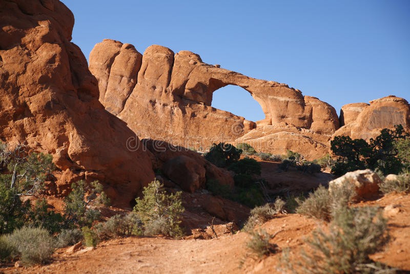 Formation de roche dans les voûtes parc national, Utah, Etats-Unis images libres de droits