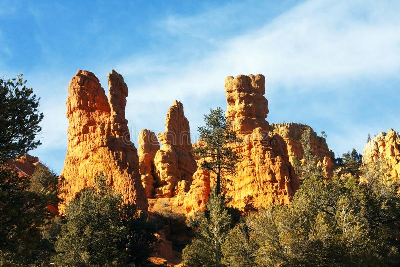 Formation de roche des Rois Court en Bryce Canyon National Park, Utah images libres de droits