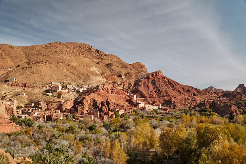 Formation de roche en Dades du Gorges au Maroc image stock