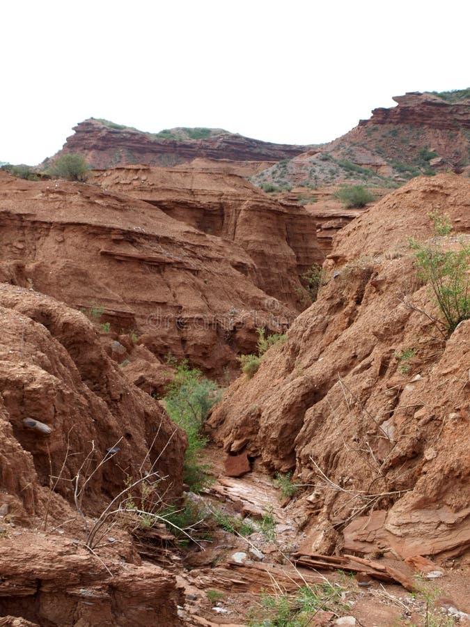 Formation de roche géologique en Argentine photos libres de droits