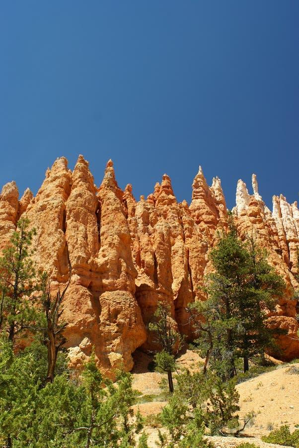 Formation de roche rouge en stationnement de gorge de bryce, Utah image stock