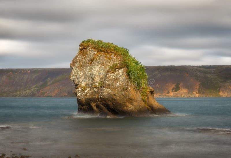 Formation de roches au lac Kleifarvatn en Islande image libre de droits