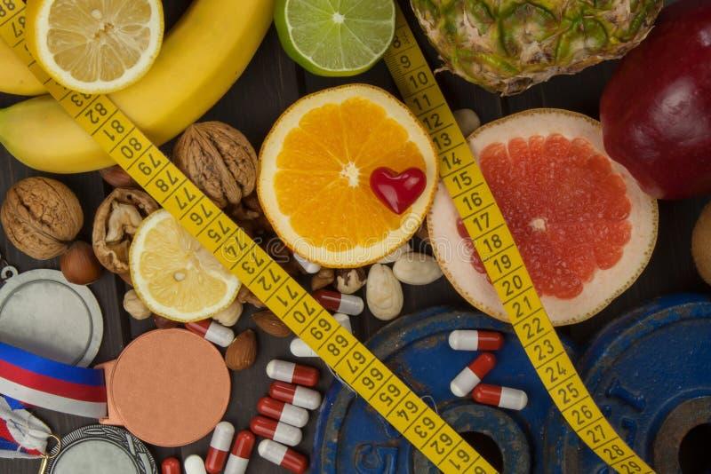 Formation de sports et une alimentation saine Nutrition saine pour des athlètes Accomplissements sportifs image stock