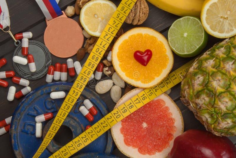 Formation de sports et une alimentation saine Nutrition saine pour des athlètes Accomplissements sportifs photos stock