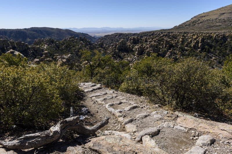 Formation de tuyau d'organe au monument national de Chiricahua images libres de droits