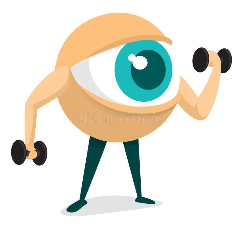 Formation de votre oeil illustration libre de droits