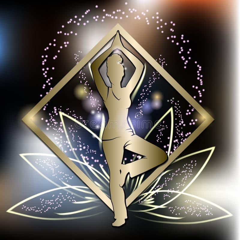 Formation de yoga illustration stock