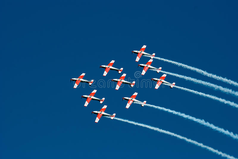 Formation flying royalty free stock photo