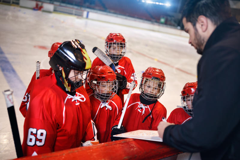 Formation game plan tactics in hockey. Matches stock photo
