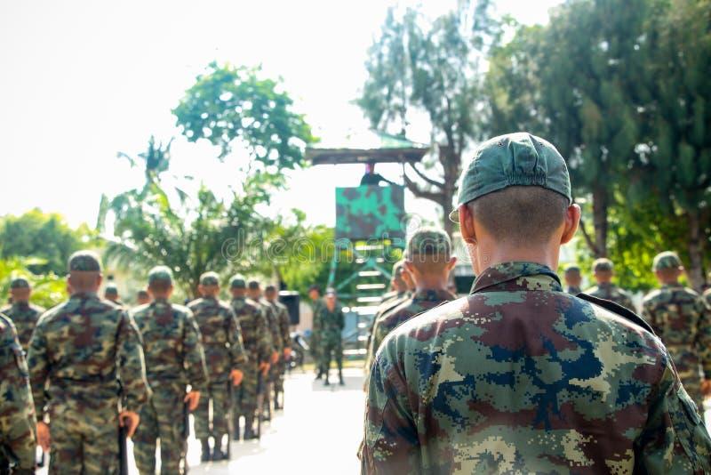 2016 : Formation pour les militaires privés de nouvelle recrue photographie stock libre de droits