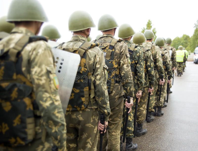 Download Formation Of Soldiers Of Internal Troops Stock Image - Image: 33724053