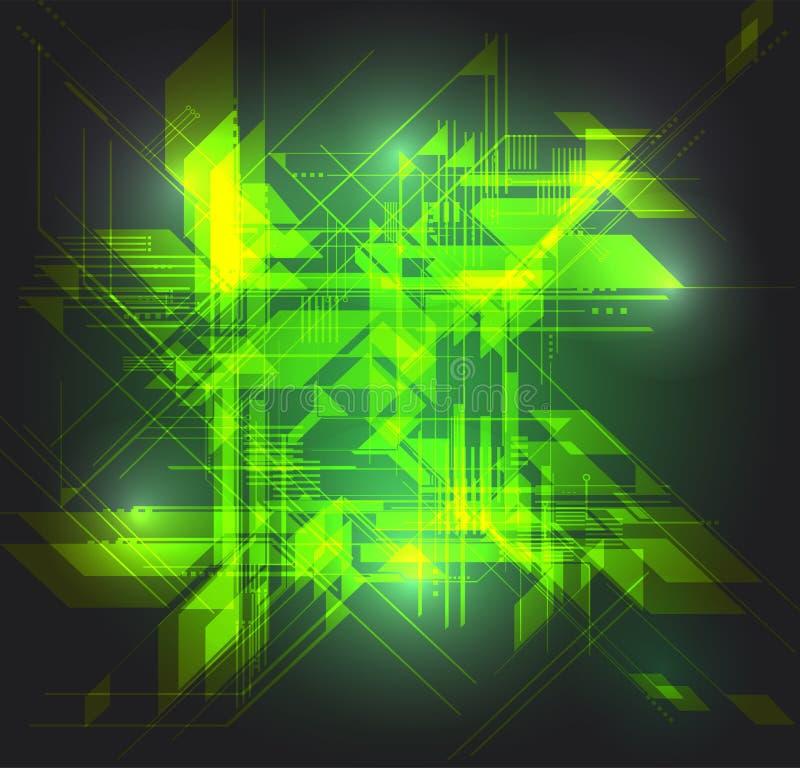 Formation technique abstraite illustration de vecteur