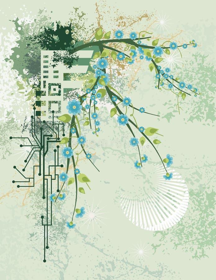Formation technique florale illustration de vecteur