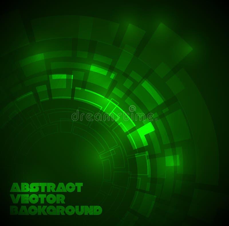Formation technique vert-foncé abstraite illustration stock