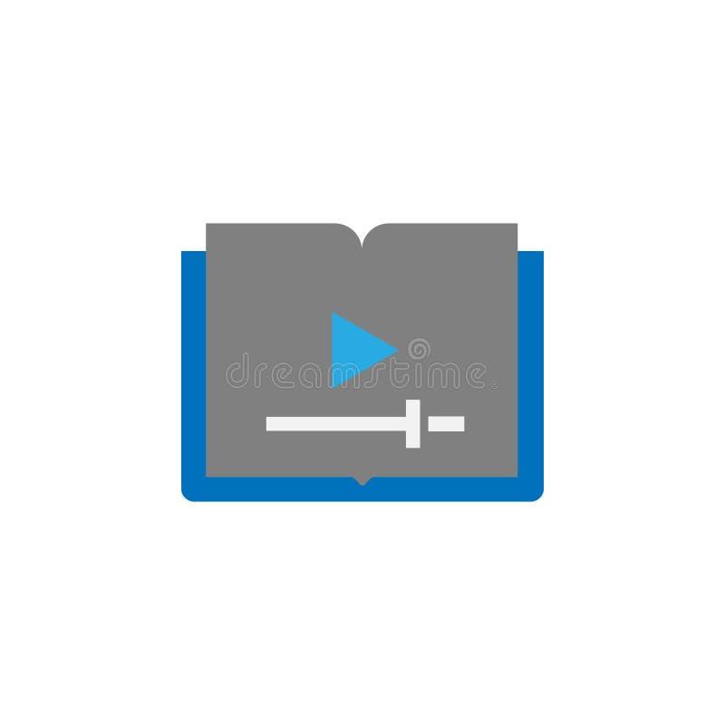 Formation visuelle et icône électronique de livre Élément d'icône d'éducation pour les apps mobiles de concept et de Web Formatio illustration de vecteur