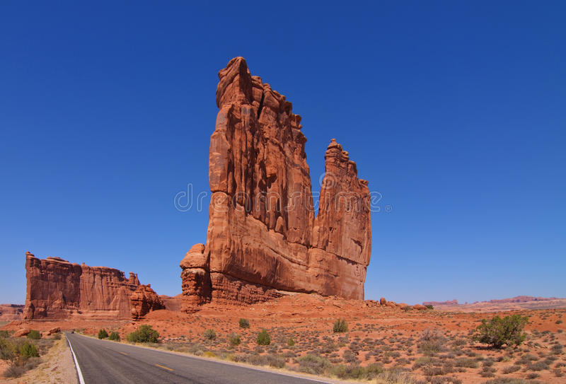 formations at arches national park, utah, royalty free stock photos