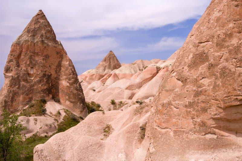 Formations de grès dans Cappadocia, Turquie photographie stock libre de droits