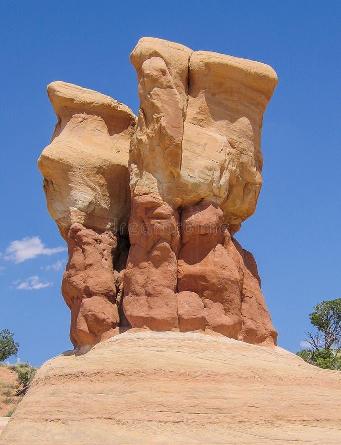 Formations de grès du jardin du diable près d'Escalante, Utah images libres de droits