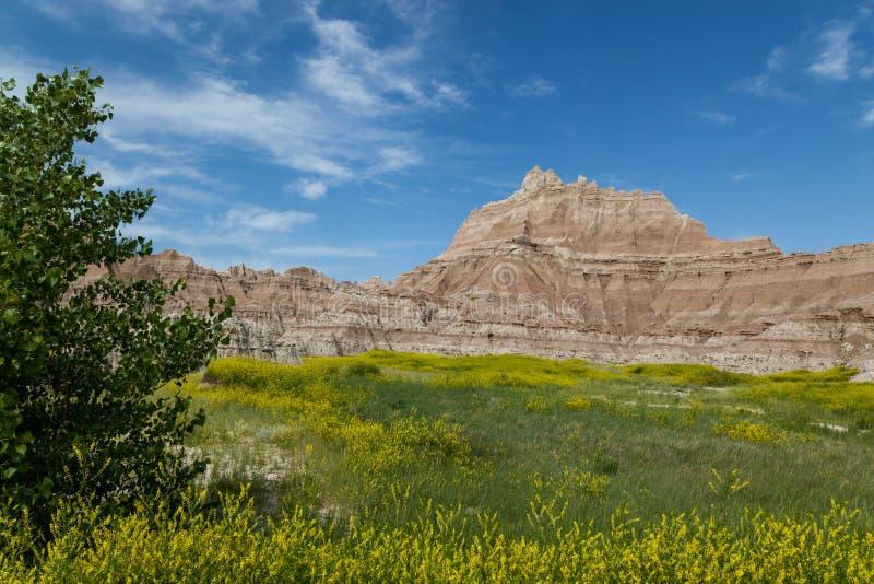 Formations de montagne de parc national de bad-lands photos libres de droits