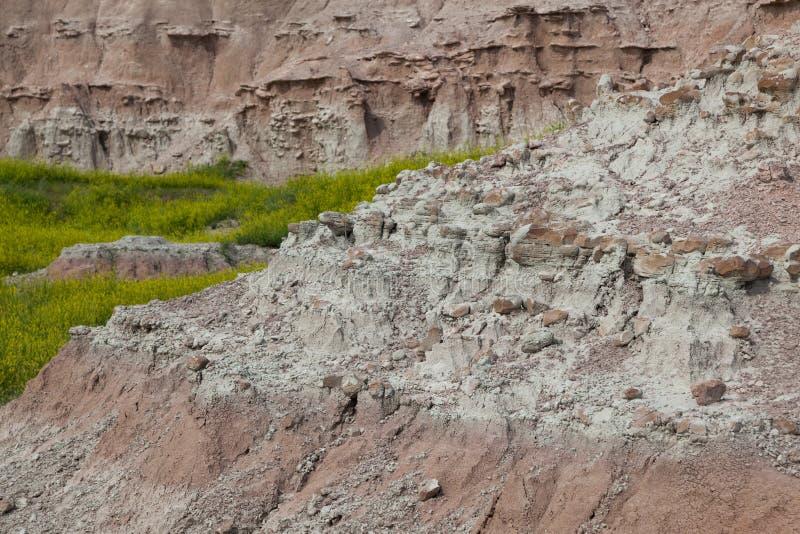 Formations de montagne de parc national de bad-lands photo libre de droits