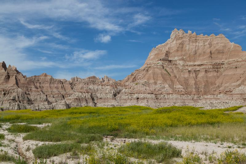 Formations de montagne de parc national de bad-lands image stock