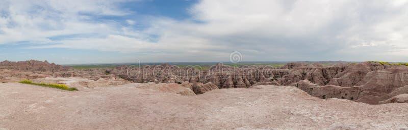 Formations de montagne de parc national de bad-lands photos stock
