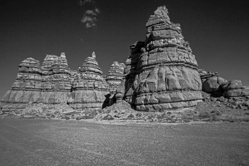 Formations de roche étranges sur l'itinéraire 24, Wayne County ut photo libre de droits
