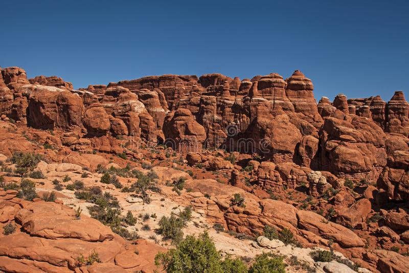 Formations de roche au jardin du ` s de diable 4 photos libres de droits
