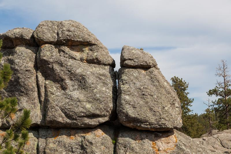 Formations de roche chez Sylvan Lake photographie stock libre de droits