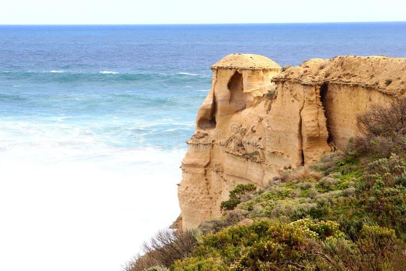 Formations de roche d'imagination le long de la grande route d'océan, Australie images libres de droits
