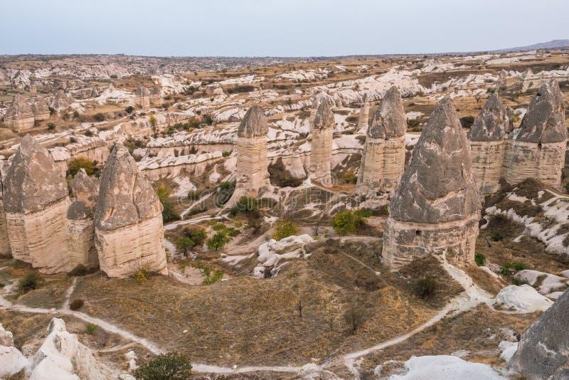 Formations de roche dans Capapdocia, Turquie image libre de droits