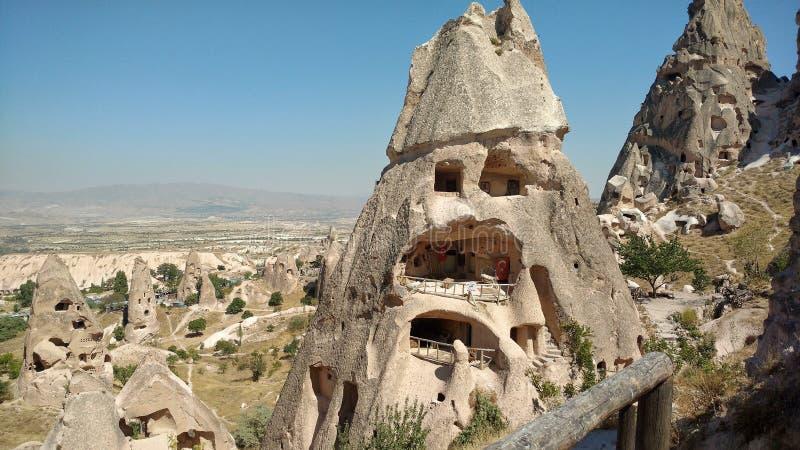 formations de roche dans la vallée de Goreme Turquie image libre de droits