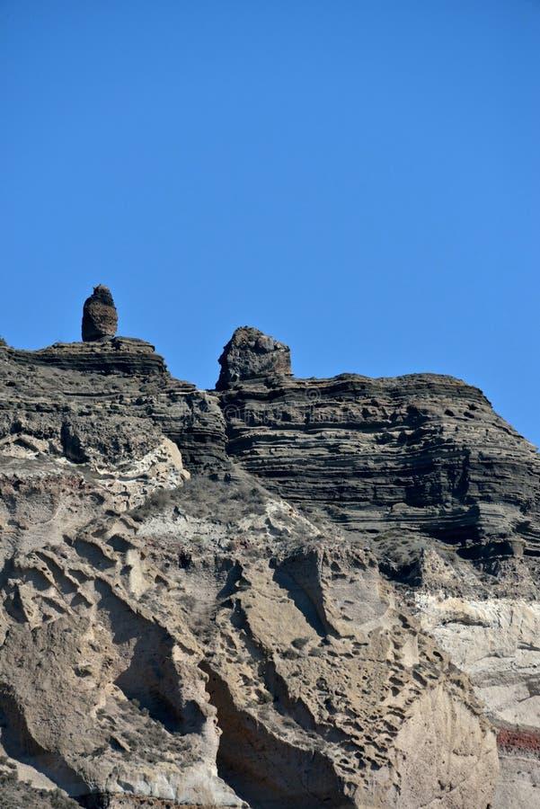 Formations de roche dans Santorini image libre de droits