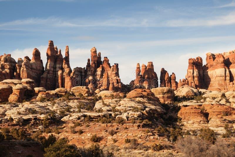 Formations de roche de parc de Chessler photos libres de droits