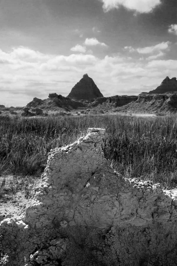 Formations de roche de pyramide images stock