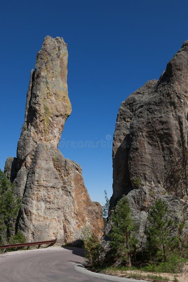 Formations de roche en Custer State Park image stock