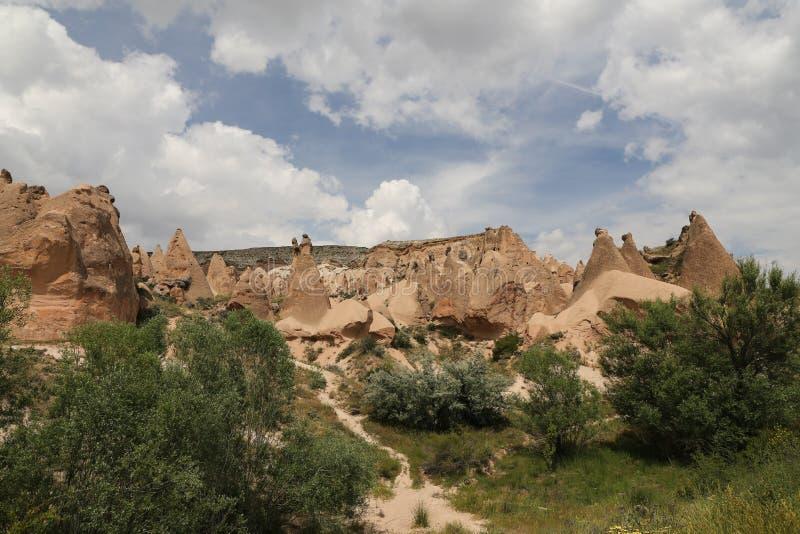 Formations de roche en vallée de Devrent, Cappadocia image stock