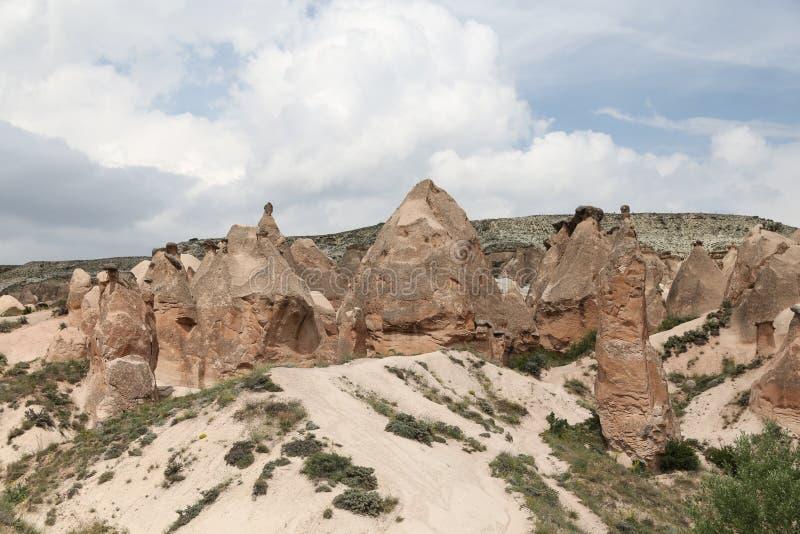 Formations de roche en vallée de Devrent, Cappadocia photo libre de droits