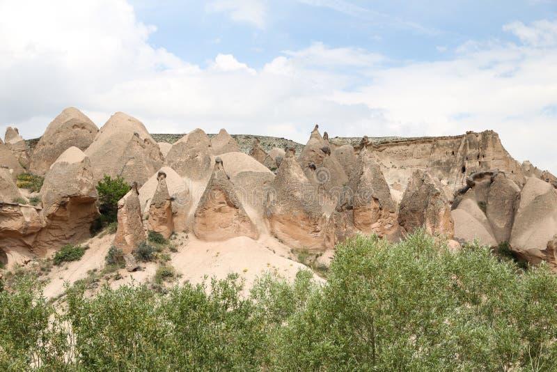 Formations de roche en vallée de Devrent, Cappadocia images libres de droits