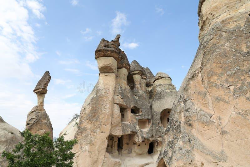 Formations de roche en vallée de moines de Pasabag, Cappadocia photo stock