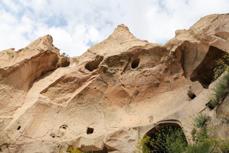 Formations de roche en vallée de Zelve, Cappadocia photos stock