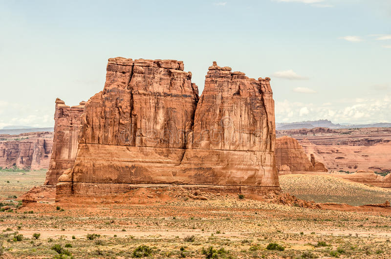 Formations de roche nommées en parc national de voûtes photos libres de droits