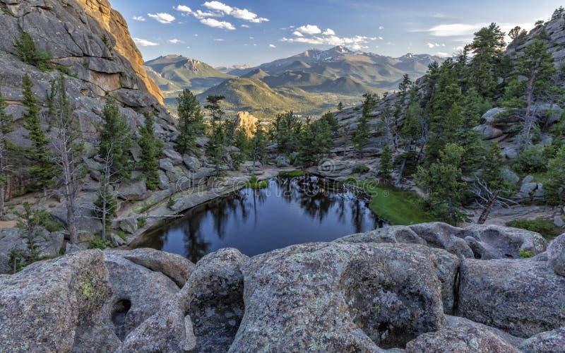 Formations de roche superficielles par les agents sur Gem Lake image libre de droits