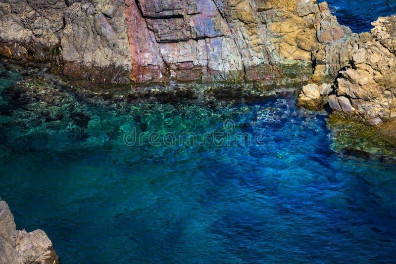 Formations de roche de tombeau de Motonosumi Inari photos stock