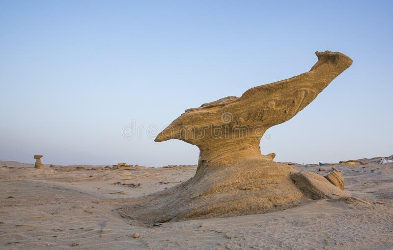 Formations de sable dans un désert près d'Abu Dhabi photos stock